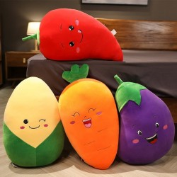 Vegetable shaped pillows - plush toys - eggplant - chili - corn - carrot