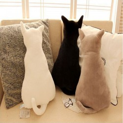 Cat shaped pillow - plush toy - 45cm