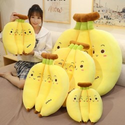 Banana shaped pillow - plush toy - 35cm - 45cm