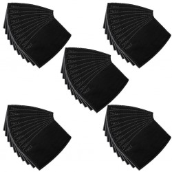 PM 2.5 - face mask filters - 5-layer - activated carbon - 12 * 8cm - 1 - 5 - 50 pieces - black
