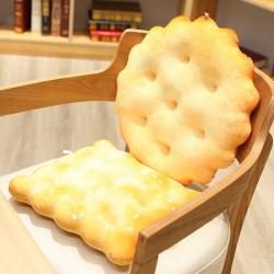Gouden koekvormig kussen - knuffel - rond - vierkant