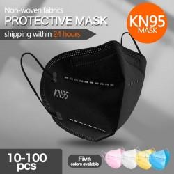 KN95 / FFP2 - beschermend mond- / gezichtsmasker - vijflaags - antibacterieel - herbruikbaar - 10 - 100 stuks