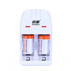 2 stuks Cr2 200mAh oplaadbare batterij - met Cr2 / CR123A universele slimme oplader