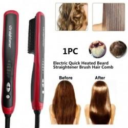 Multifunctional straightener / curler / comb - for hair / beard - ceramic