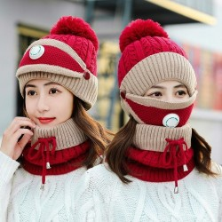 3 in 1 - knitted beanie / face mask / scarf - warm winter set