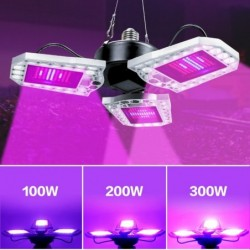 LED plant grow light - full spectrum - waterproof - E27 / E26 - 40W - 60W - 80W - 100W - 200W - 300W