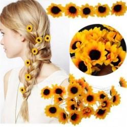 Sonnenblume - Haarnadel - 10 Stück