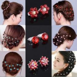 Kristallblumen Haarspangen - 10 Stück