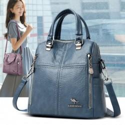 Leather shoulder bag - with...