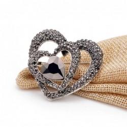 3 heart black heart brooch...