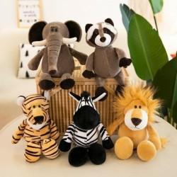 Knuffels in de vorm van een dier - olifant / tijger / vos / wasbeer / aap