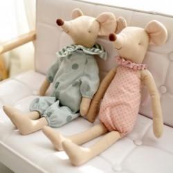 Muis in pyjama - knuffel / pop