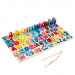 Montessori houten speelgoed - wiskunde / alfabet / tellen / meetkunde - educatief speelgoed