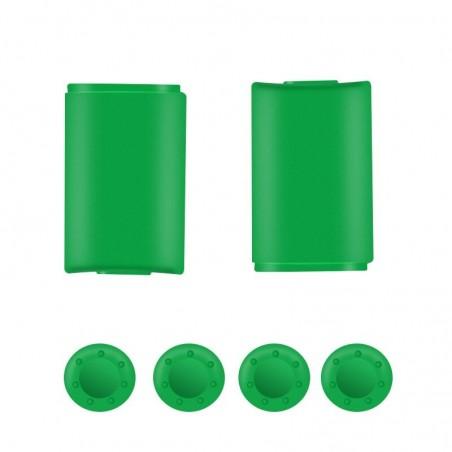 Batterij-achterklep - voor Xbox 360-controller - met 4 siliconen thumbsticks-kapafdekking