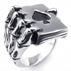 Vintage ring - stainless...
