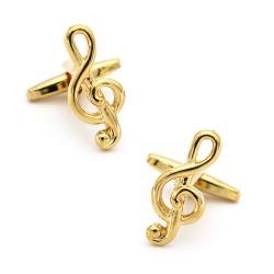 Musical notes cufflinks -...