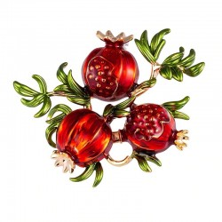 Twig with pomegranates -...