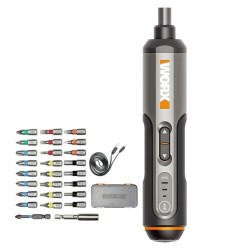 WX240 - elektrische mini-schroevendraaier - opladen via USB - boormachine - met 26 bitset