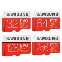 Samsung EVO Plus - memory card - micro SD - class 10 - U3 - TF - 32GB / 64GB / 128GB / 256GB