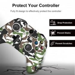 Siliconen beschermhoes - voor Xbox One Slim controller - met 2 grips kappen