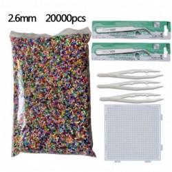 Hama kralen - 2,6 mm - sjabloon - pincet - set - educatief speelgoed - 20000 stuks