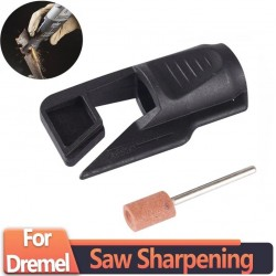 Saw sharpening attachment - tool sharpener adapter