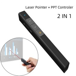2 in 1 laser pointer - with PPT controller - wireless - RF 2.4G