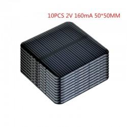 Zonnepaneel - voor het opladen van smartphones / batterijen - 2V - 160mA - 50 * 50mm - 10 stuks