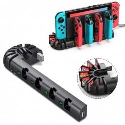 Nintendo Switch Ladestation - 4-Ports - mit 8 Spielplätzen