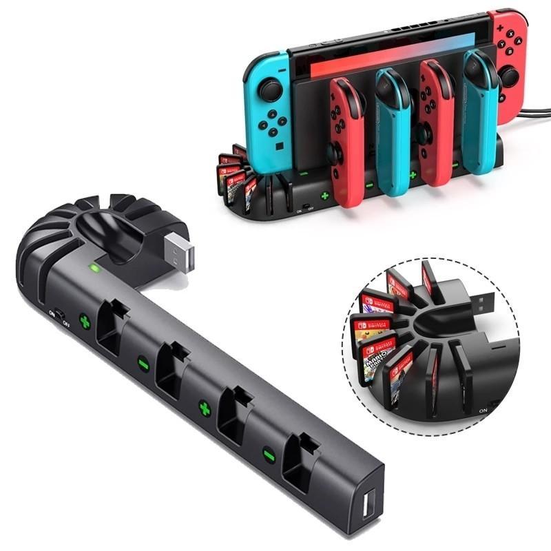 Nintendo Switch oplaadstation - 4 poorten - met 8 gameslots