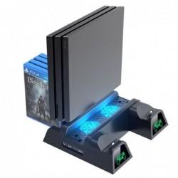Dubbel oplaadstation - koelstandaard - LED - voor PS4 / PS4 Slim / PS4 Pro-controller
