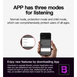 Bluedio 7th - draadloze hoofdtelefoon - Bluetooth - ruisonderdrukking - met microfoon / spraakbediening