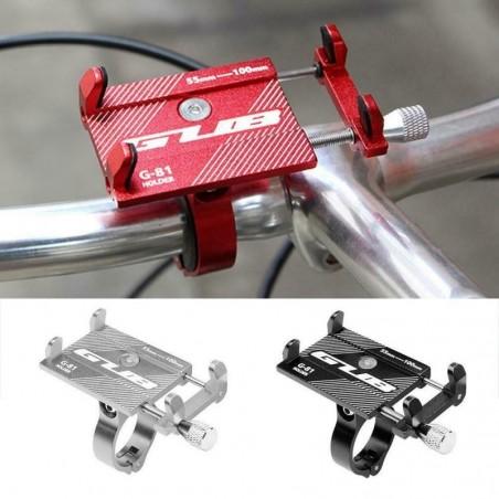 Bicycle handlebar phone holder / mount bracket - aluminum clip
