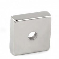N35 - neodymium magneet - vierkant - met 7mm gat - 30 * 30 * 10mm