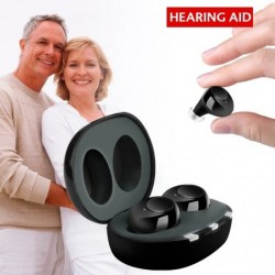 Hörgerät - unsichtbar - wiederaufladbar - USB - mit Ladebox - 1 Paar