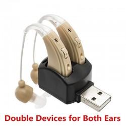 Hoortoestel - oorversterker - met dubbele oplaadpoort - USB