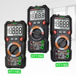 HT118 - professional digital multimeter - 6000 counts - 1000V / AC / DC / Ohm / Hz NCV Live C/F / voltage meter