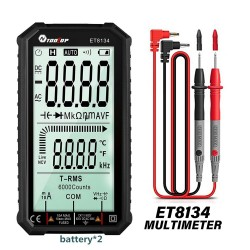 Slimme digitale multimeter - automatische / handmatige meting - LCD - weerstandsdiode - temperatuur / frequentietest