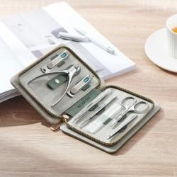 Professionele manicure/pedicure set - RVS - met koffer - 8 stuks
