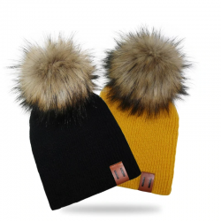 Knitted hats with...