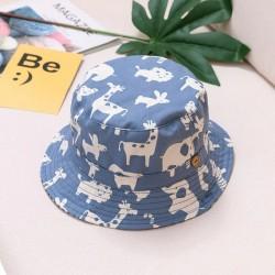 Zomerse bucket hat - met verstelbare touwtjes - voor meisjes/jongens - dierenprint