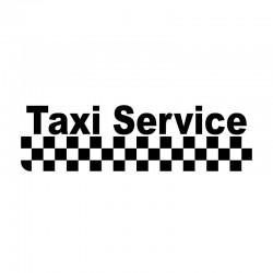 Taxi Service - car vinyl sticker - 15.8 * 4.5cm