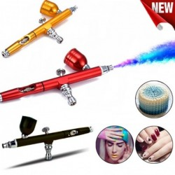 Dual-action airbrush - paint spray gun - kit for nail art / tattoo / cakes decoration - 0.3mm
