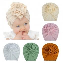 Thin hat / tulband met bloem knoop - voor meisjes