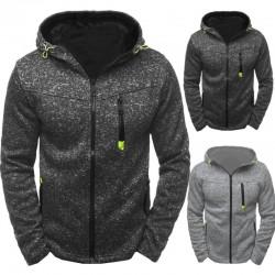 Men's cotton hoodie with zipper
