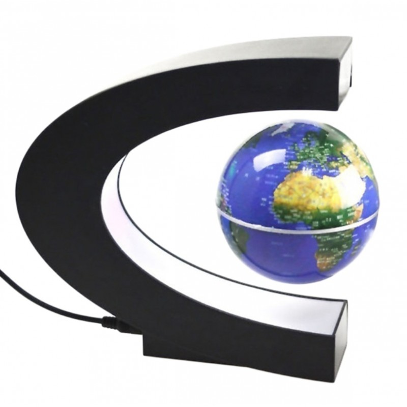 Floating Levitation Globe Magnetic Color & Gold