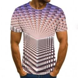 3D geometric print - classic short sleeve t-shirt