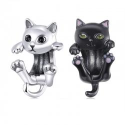 Kleine kitten - hanger / charme voor armband - 925 sterling zilver