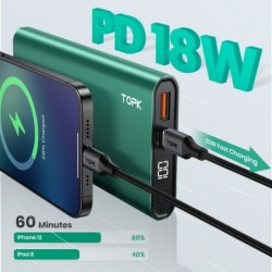 I1006P - draagbare powerbank - oplader - dubbele USB - snel opladen 10000mAh - LED
