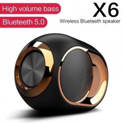 X6 - draadloze Bluetooth-luidspreker - HiFi-bas - waterdicht - FM-radio - TWS - SD - AUX